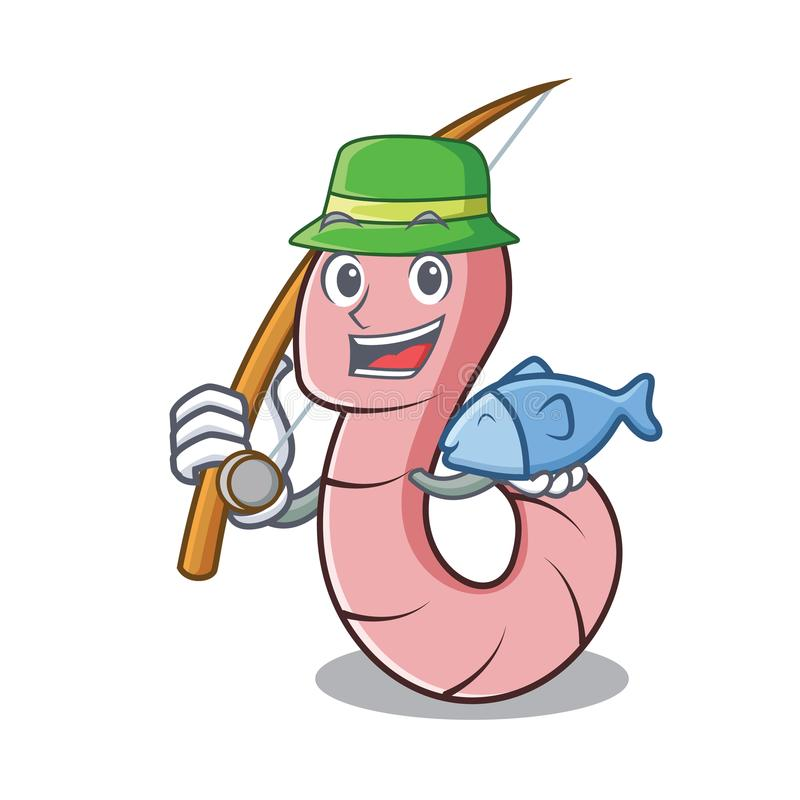 Estilo dos desenhos animados da mascote do sem-fim de pesca ilustração royalty free