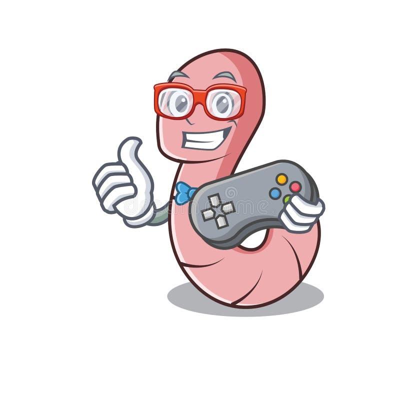 Estilo dos desenhos animados da mascote do sem-fim do Gamer ilustração stock