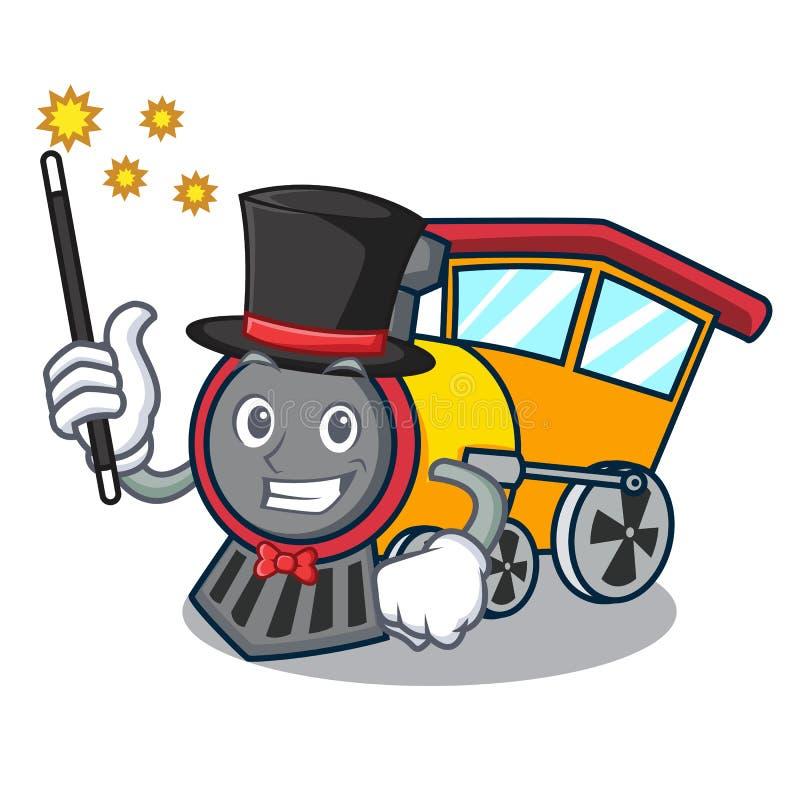 Estilo dos desenhos animados da mascote do trem do mágico ilustração stock