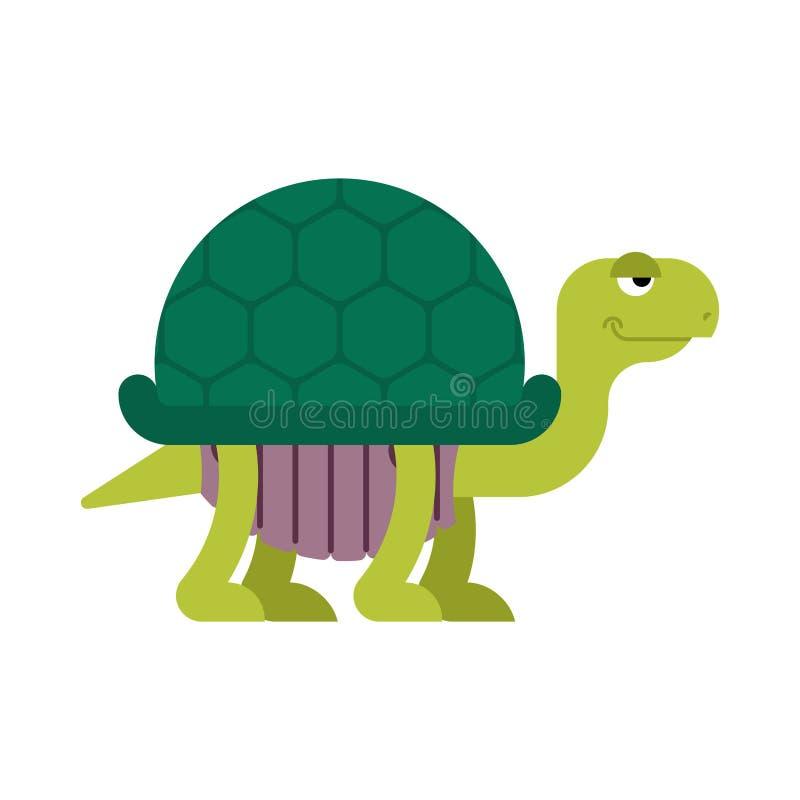 Estilo dos desenhos animados da tartaruga isolado Ilustração do vetor da tartaruga ilustração stock