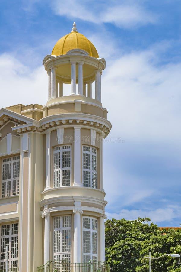 Estilo ecléctico elegante que construye Recife el Brasil foto de archivo libre de regalías