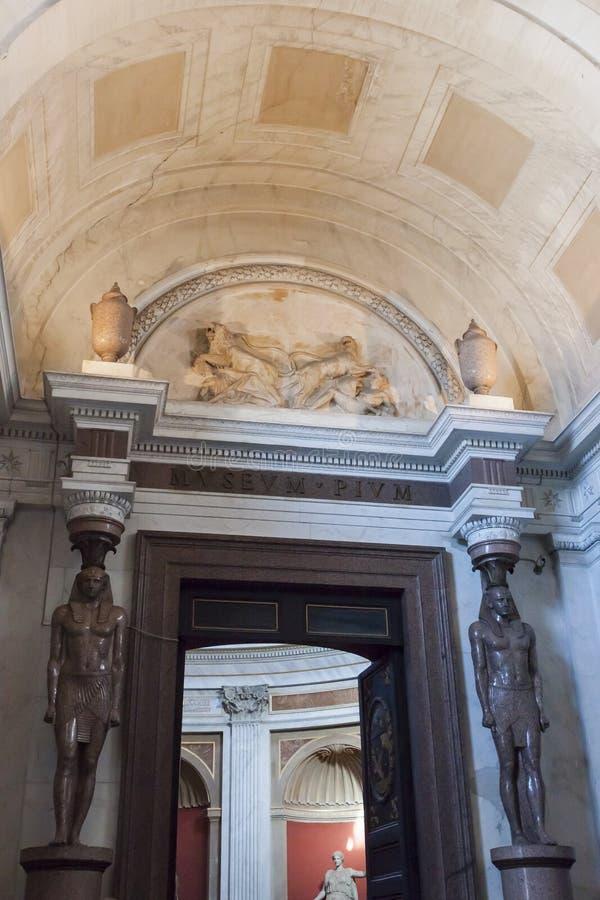 Estilo egípcio da galeria barroco - Roma fotografia de stock