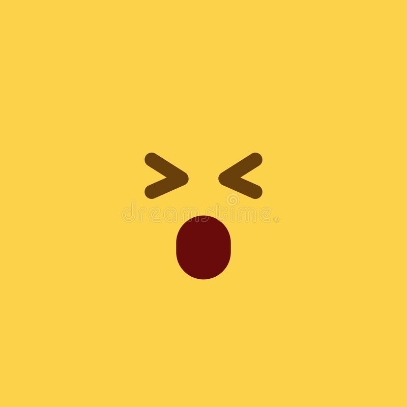 Estilo Emoji da telha de Oww imagens de stock royalty free