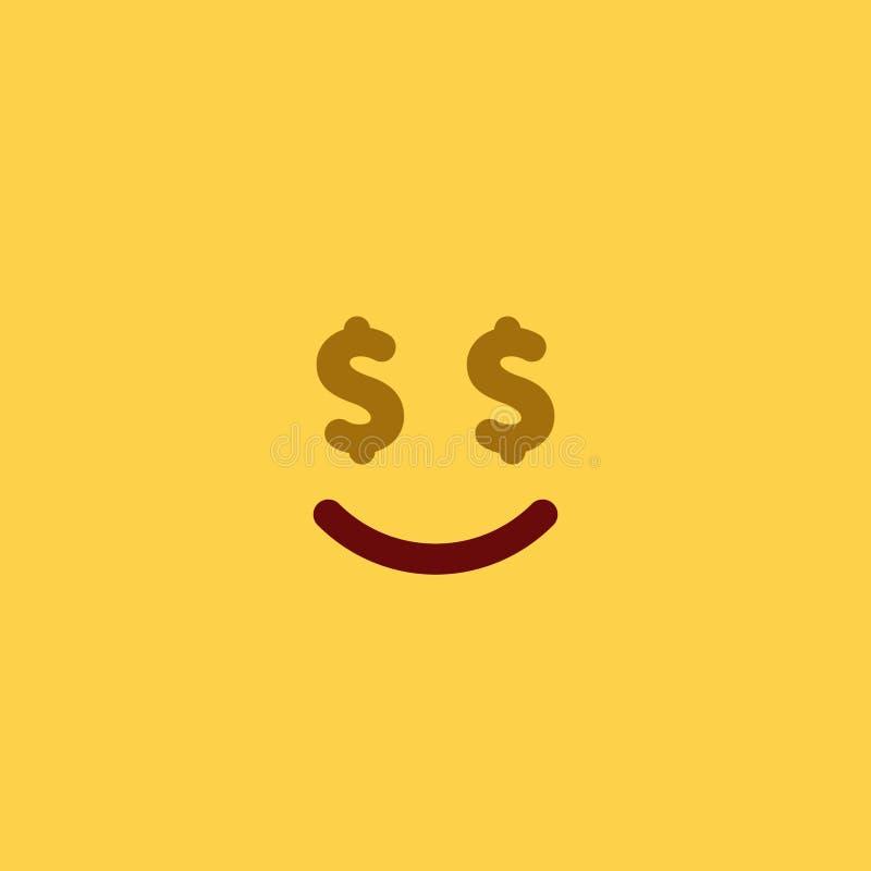 Estilo Emoji da telha do dinheiro fotos de stock