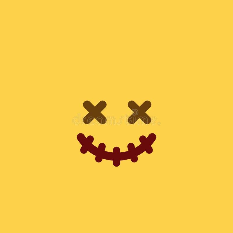 Estilo Emoji da telha do vudu foto de stock
