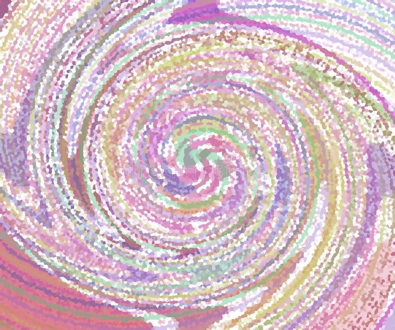 Estilo espiral colorido abstracto del imagen-puntillismo libre illustration