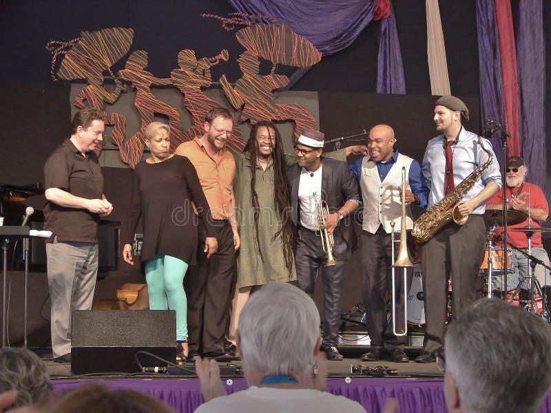 Estilo fácil grande del jazz de New Orleans y del festival de la herencia imagen de archivo