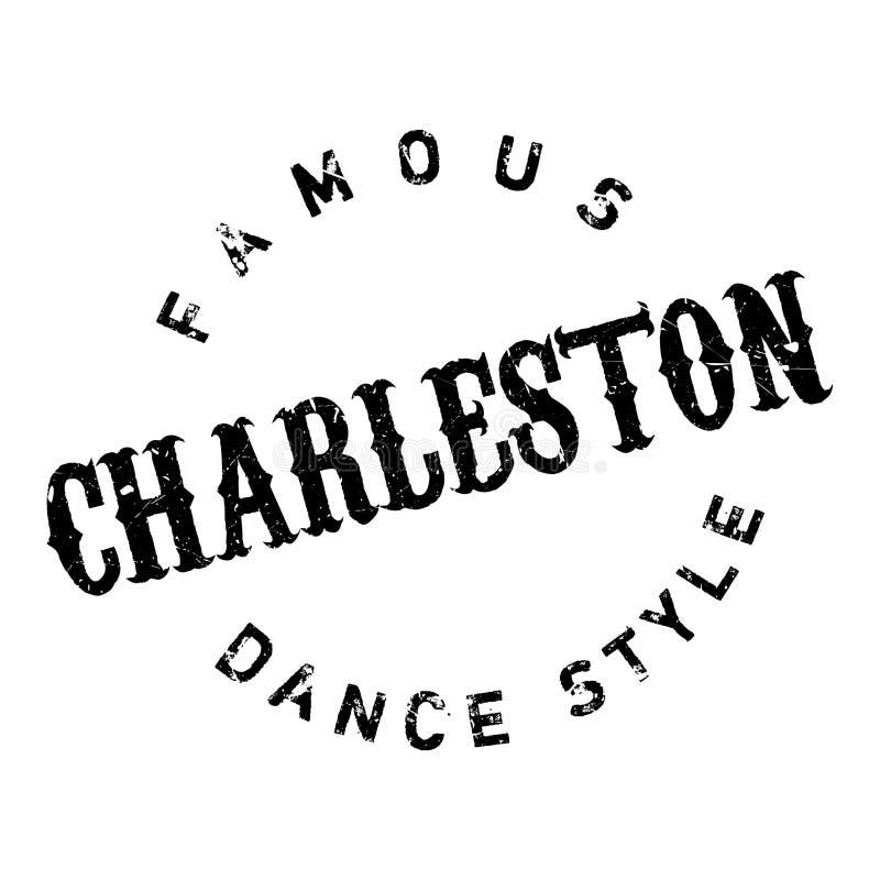 Estilo famoso da dança, selo de Charleston ilustração do vetor