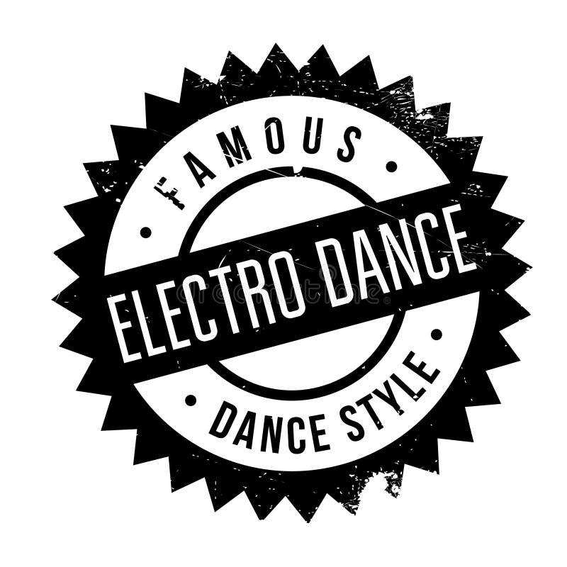 Estilo famoso de la danza, electro sello de la danza ilustración del vector