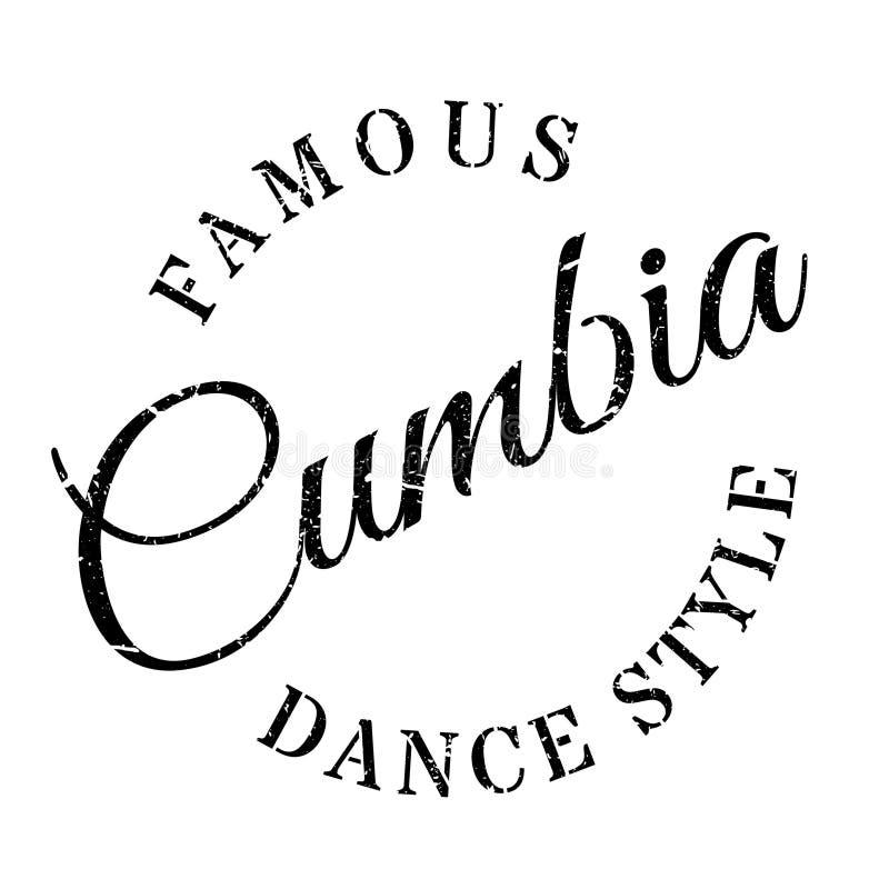 Estilo famoso de la danza, sello de Cumbia stock de ilustración