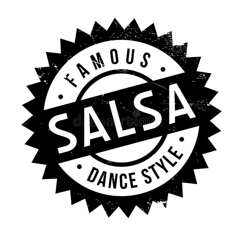 Estilo famoso de la danza, sello de la salsa ilustración del vector