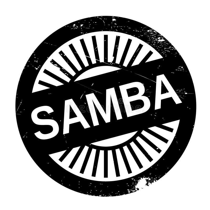 Estilo famoso de la danza, sello de la samba stock de ilustración