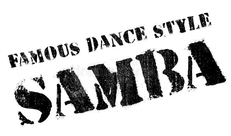 Estilo famoso de la danza, sello de la samba libre illustration