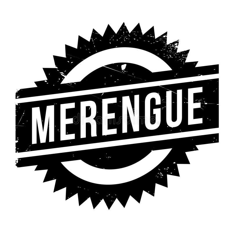 Estilo famoso de la danza, sello de Merengue stock de ilustración