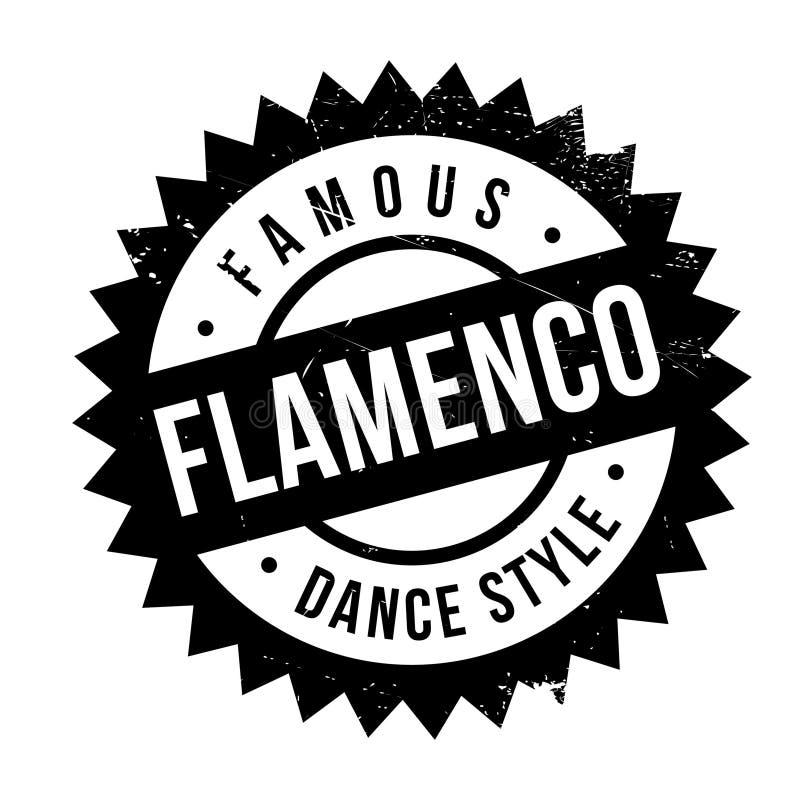 Estilo famoso de la danza, sello del flamenco stock de ilustración