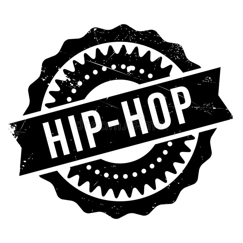 Estilo famoso de la danza, sello del hip-hop ilustración del vector