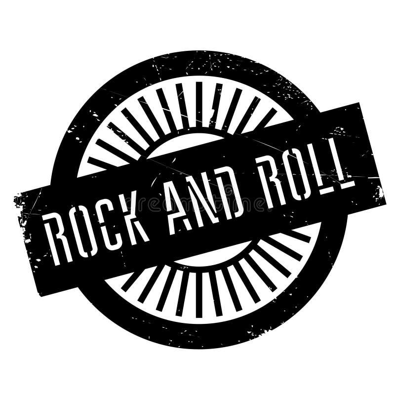 Estilo famoso de la danza, sello del rock-and-roll libre illustration