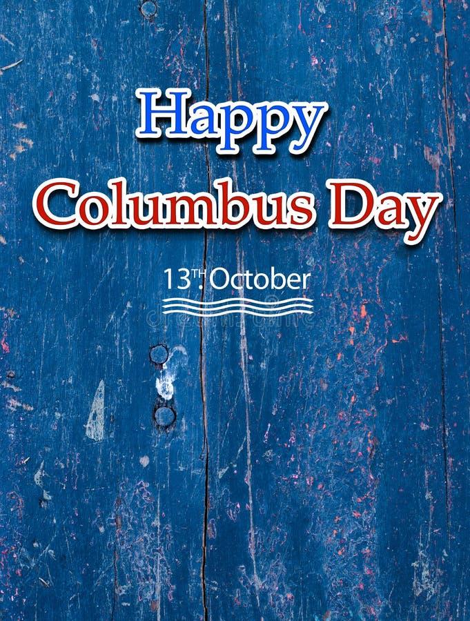 Estilo feliz del vintage de Columbus Day libre illustration