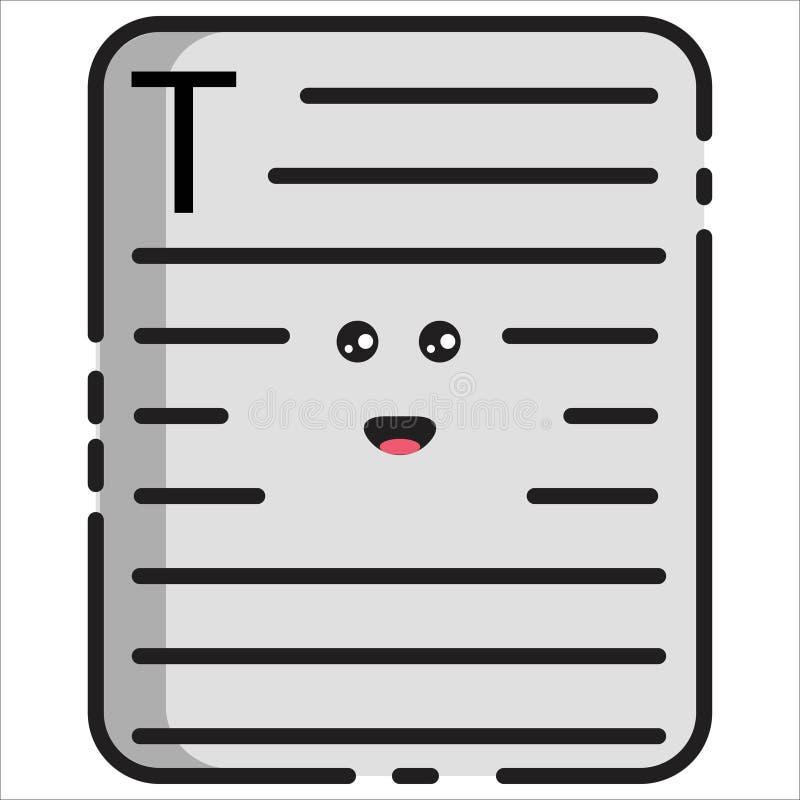 Estilo feliz do MBE da ilustração do documento do vetor ilustração stock