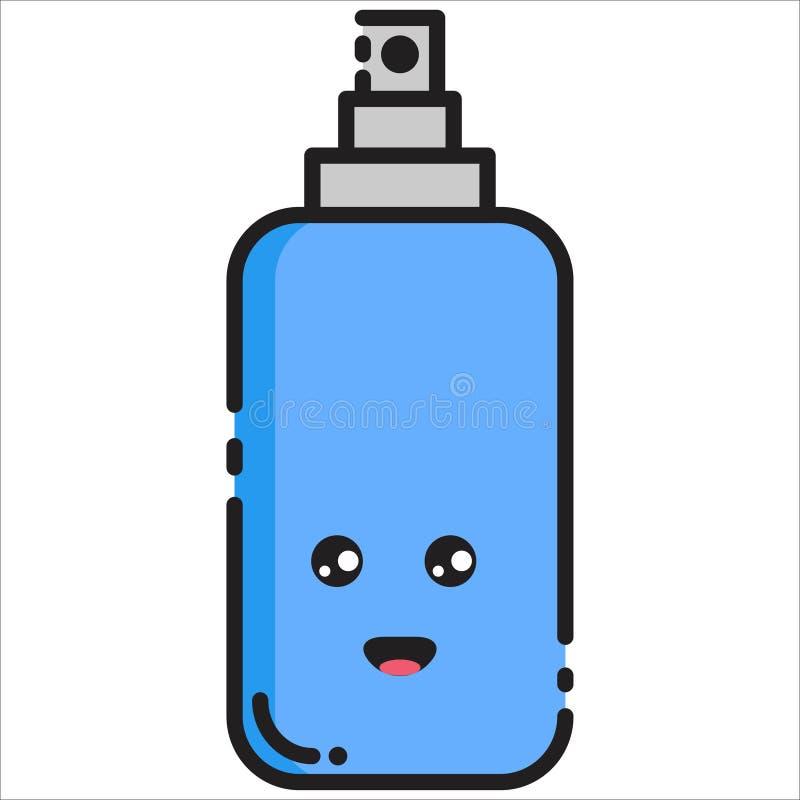 Estilo feliz do MBE do projeto do ícone da garrafa do vetor ilustração royalty free