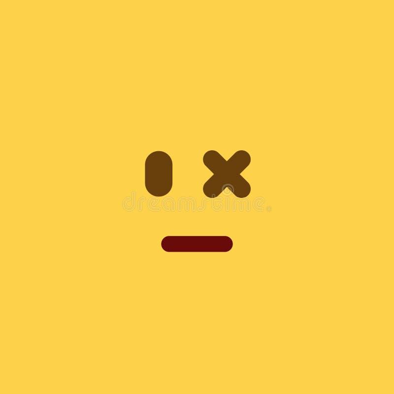 Estilo ferido Emoji da telha foto de stock royalty free