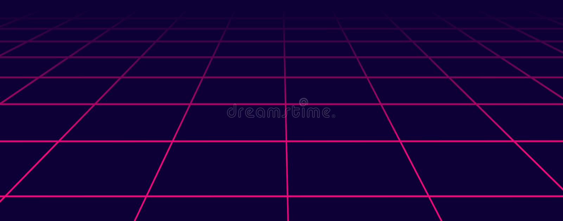 Estilo futurista abstracto de los años 80 de la rejilla Fondo del partido del ejemplo 80s del vector fondo retro de la ciencia fi stock de ilustración