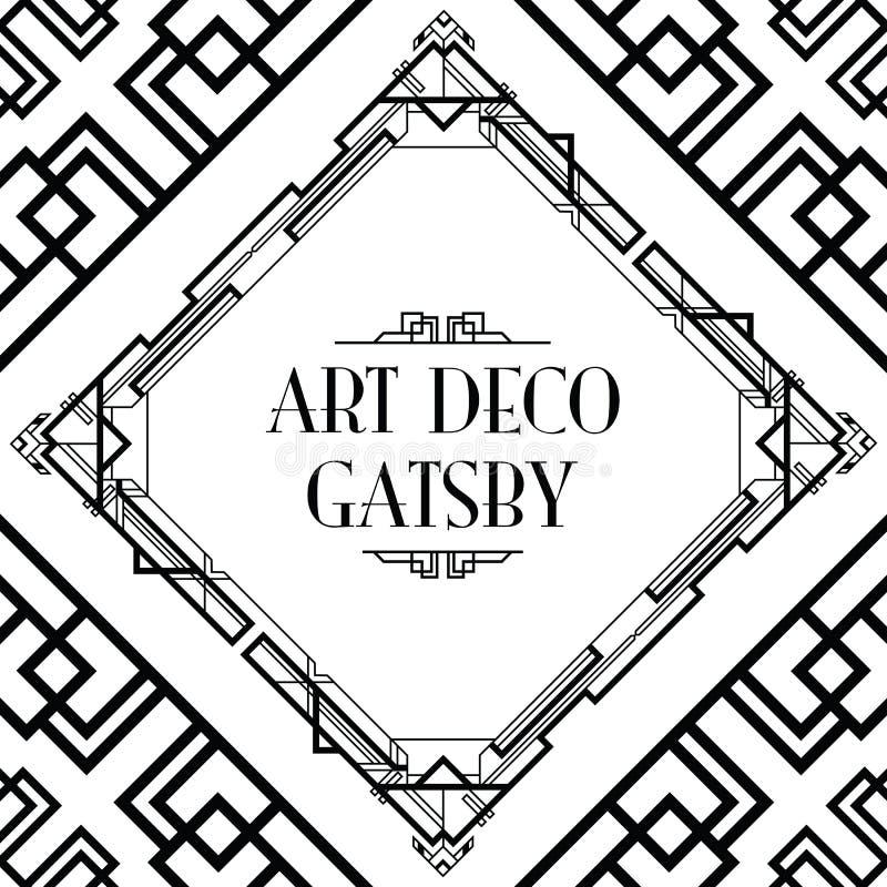 Estilo gatsby do art deco ilustração royalty free