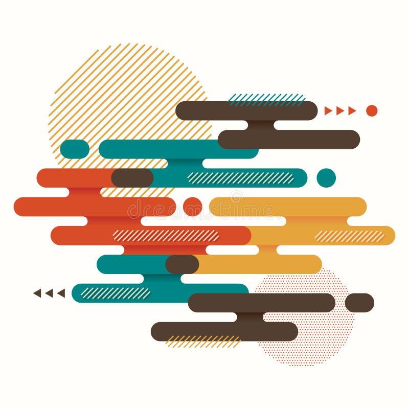Estilo geométrico colorido del arte moderno del fondo de la disposición de la forma del extracto libre illustration