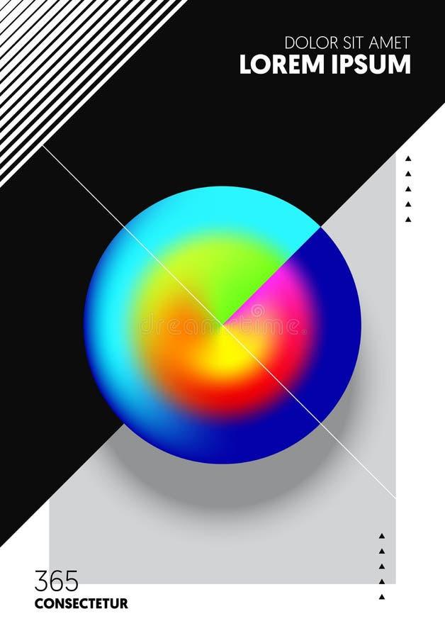 Estilo geométrico da arte moderna do fundo do molde do projeto da disposição da forma do inclinação do sumário ilustração stock