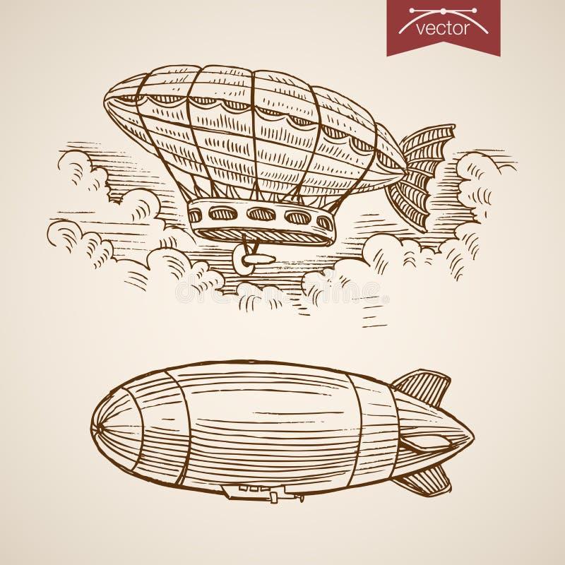 Estilo handdrawn del grabado de Santa New Year de la Navidad libre illustration