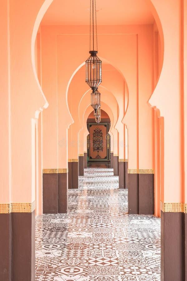 estilo hermoso de Marruecos de la arquitectura imágenes de archivo libres de regalías