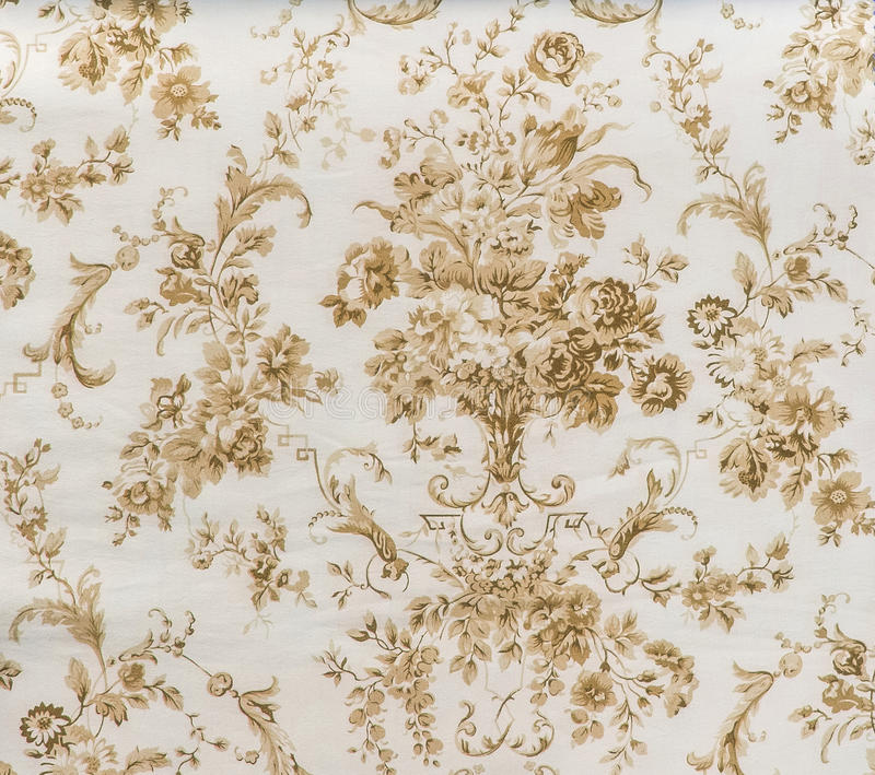 Estilo inconsútil floral del vintage del fondo de la tela de Brown de la sepia del modelo del cordón retro imagen de archivo