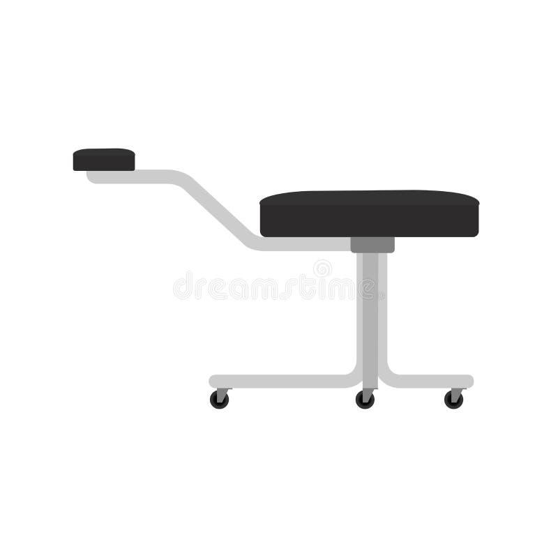 Estilo interior del ejemplo de la silla del taburete de la pedicura del vector del salón de belleza libre illustration