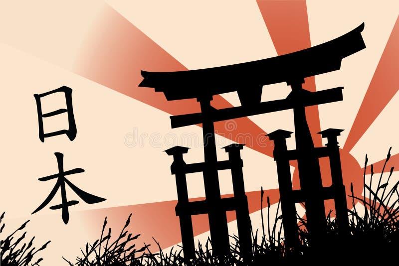 Estilo japonés ilustración del vector