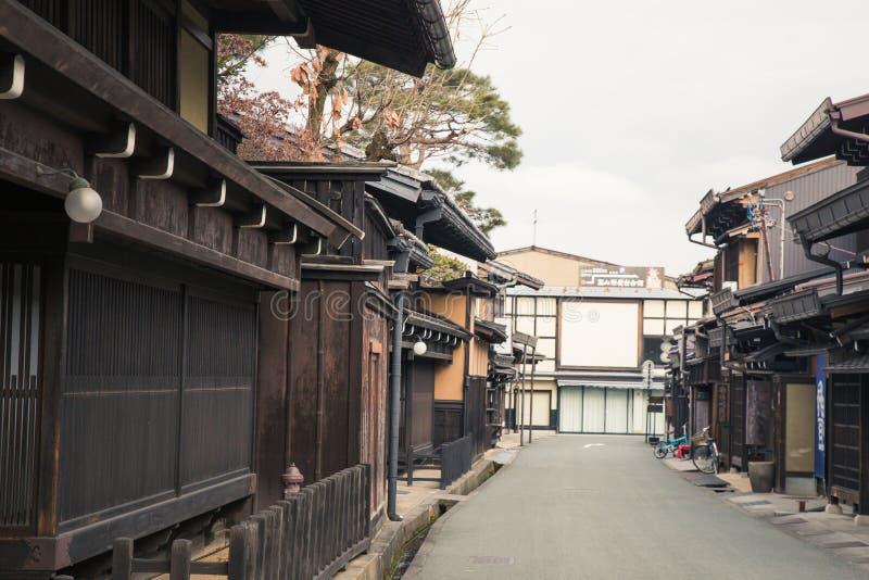 Estilo japonés de la casa en la ciudad vieja Takayama, Japón imágenes de archivo libres de regalías