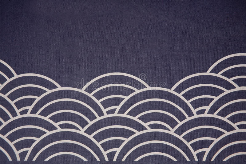 Estilo japonés del indicador de la onda imagen de archivo