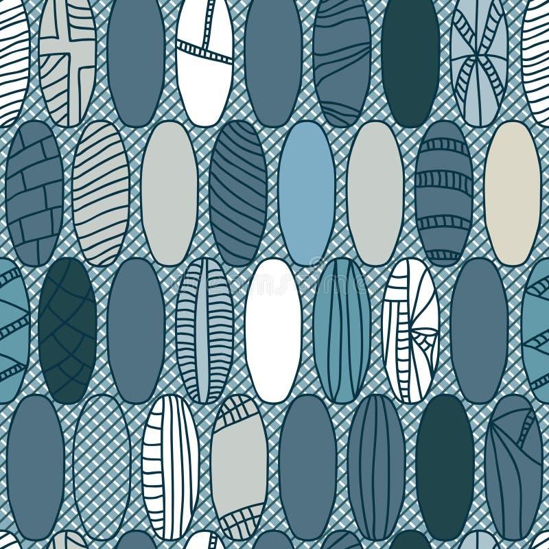 Estilo japonés Pattern_eps inconsútil de la bola de rugbi ilustración del vector