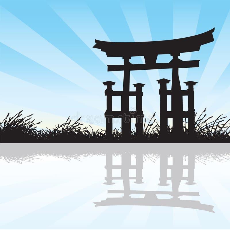 Estilo japonês ilustração do vetor