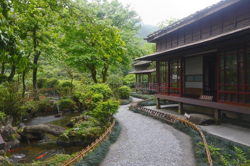 Estilo japonês da arquitetura fotos de stock