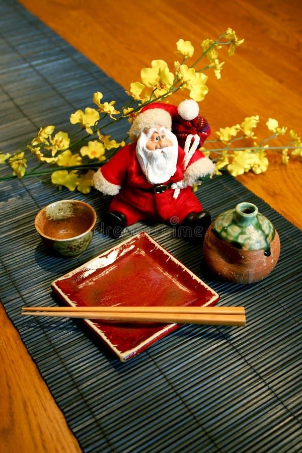 Estilo japonês de Papai Noel fotos de stock royalty free
