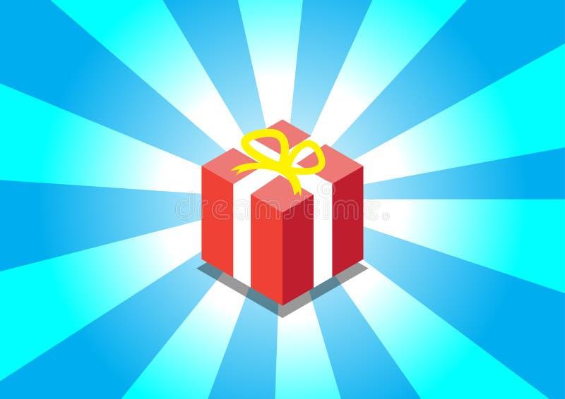 Estilo lindo de la caja de regalo en ejemplos hermosos del vector del fondo stock de ilustración