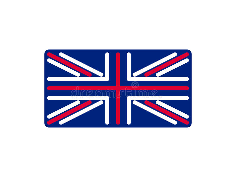 Estilo linear de la bandera de Reino Unido Muestra Gran Bretaña Símbolo nacional libre illustration