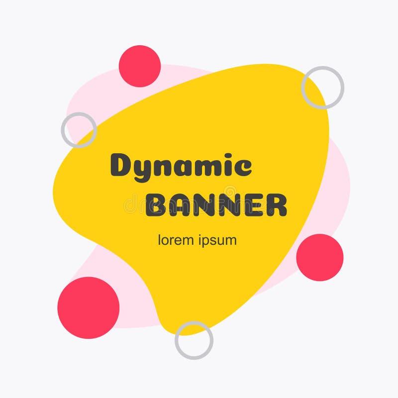 Estilo liso colorido moderno da bandeira futurista mínima do sumário do vetor ilustração do vetor