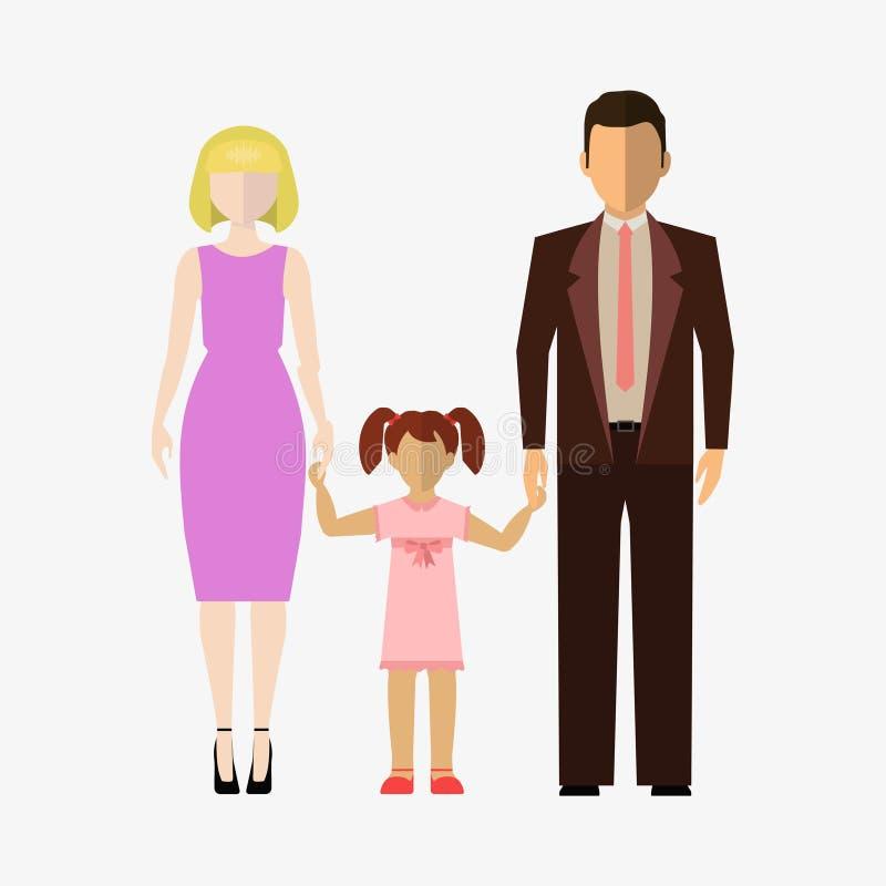 Download Estilo Liso Do ícone Da Família Ilustração Stock - Ilustração de humano, caráter: 80102470