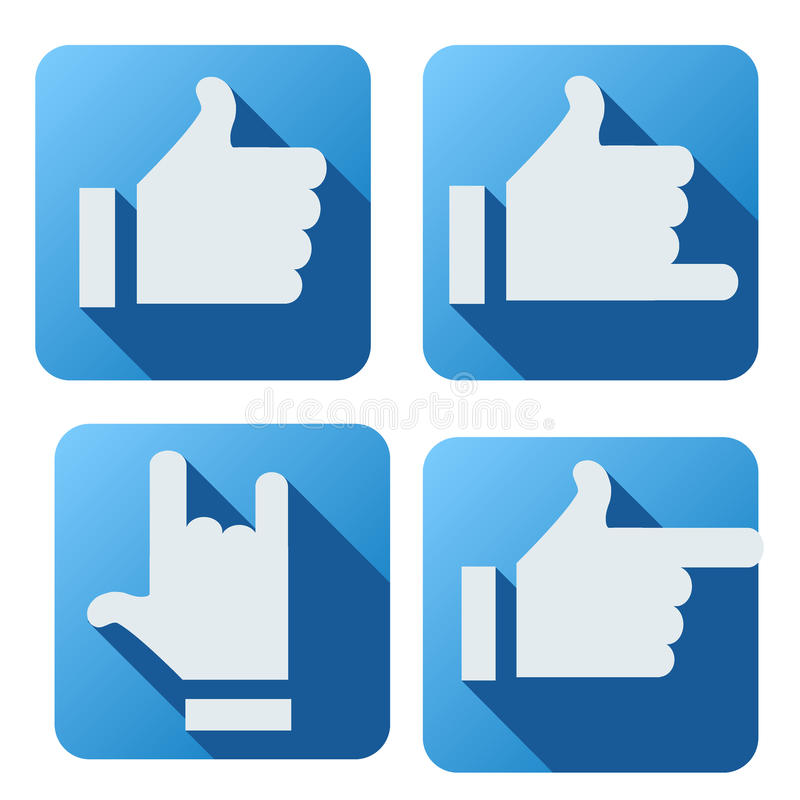 Estilo liso do botão como para trabalhos em rede sociais ilustração royalty free