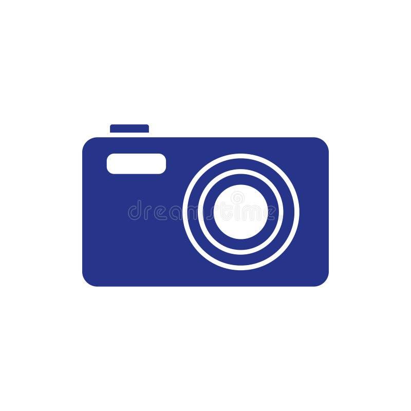 Estilo liso do projeto da ilustração do vetor do estoque do ícone da câmera ilustração royalty free