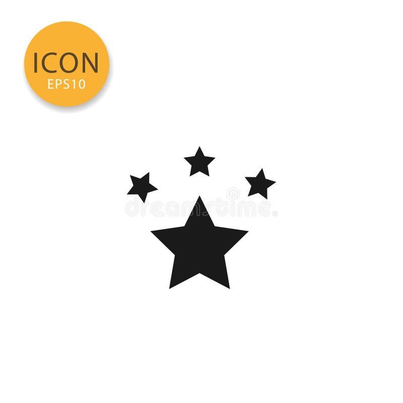 Estilo liso isolado ícone das estrelas ilustração stock