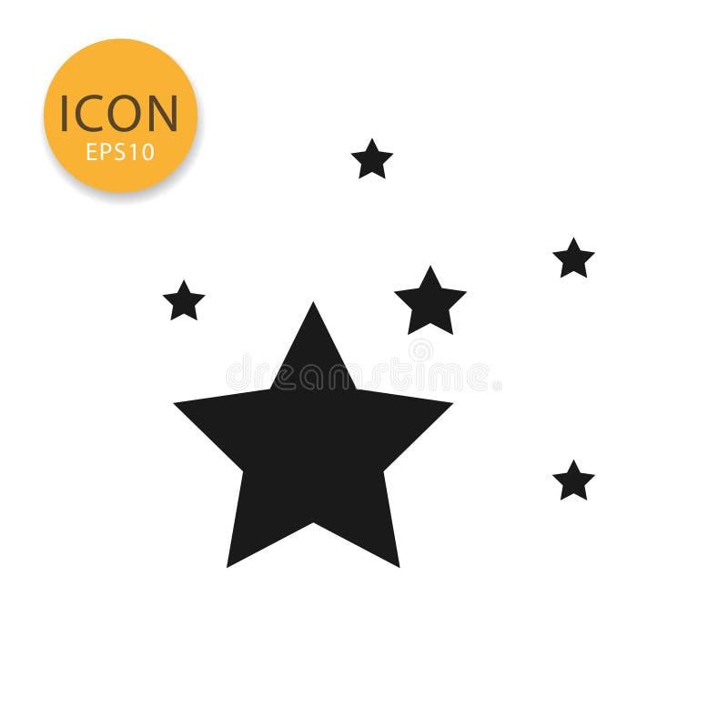 Estilo liso isolado ícone das estrelas ilustração do vetor