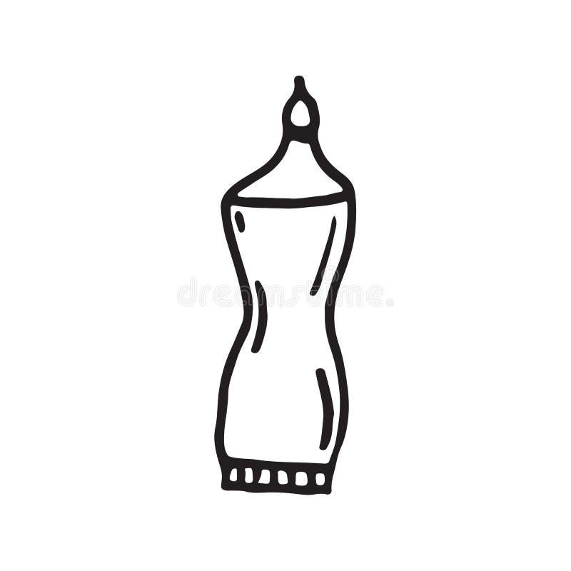 Estilo liso tirado disponivel da garatuja do ícone da colagem ilustração royalty free