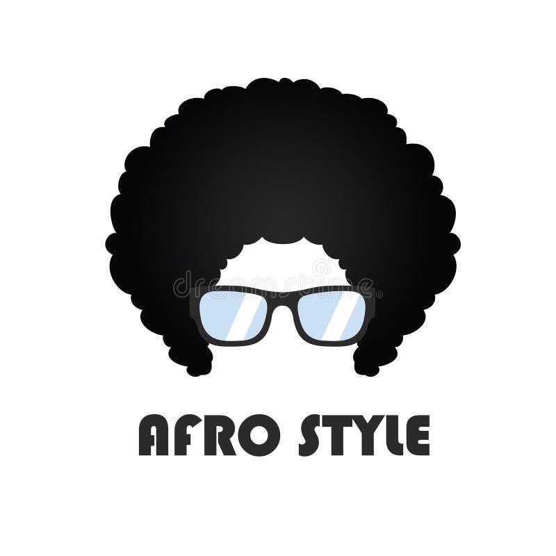 Estilo Logo Vector Design del Afro stock de ilustración